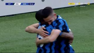 GOLO! Internazionale, R. Gagliardini aos 4', Internazionale 1-0 Sampdoria