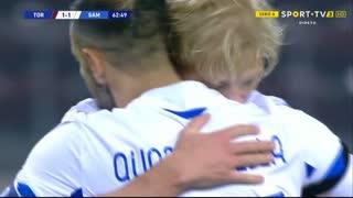 GOLO! Sampdoria, F. Quagliarella aos 63', Torino 1-2 Sampdoria