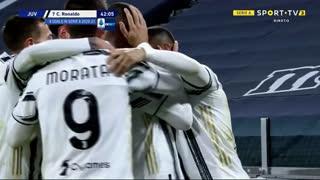 GOLO! Juventus, Cristiano Ronaldo aos 42', Juventus 2-0 Cagliari