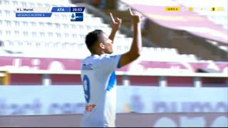 GOLO! Atalanta, L. Muriel aos 21', Torino 1-2 Atalanta