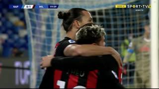 GOLO! Milan, Ibrahimovic aos 20', Napoli 0-1 Milan