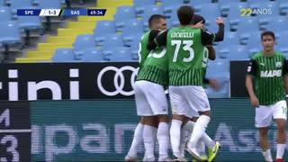 GOLO! Sassuolo, G. Defrel aos 66', Spezia 1-3 Sassuolo