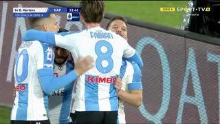 GOLO! Napoli, D. Mertens aos 34', Roma 0-2 Napoli