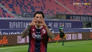 GOLO! Bologna, R. Soriano aos 16', Bologna 1-0 Parma