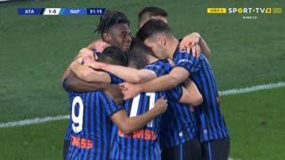 GOLO! Atalanta, D. Zapata aos 52', Atalanta 1-0 Napoli