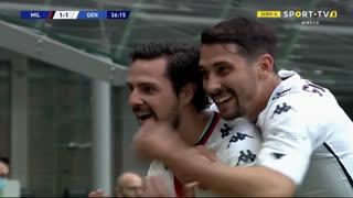 GOLO! Genoa, M. Destro aos 37', Milan 1-1 Genoa
