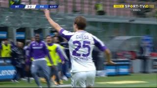GOLO! Fiorentina, F. Chiesa aos 63', Internazionale 2-3 Fiorentina