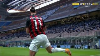 GOLO! Milan, Ibrahimovic aos 13', Internazionale 0-1 Milan