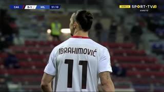GOLO! Milan, Ibrahimovic aos 52', Cagliari 0-2 Milan