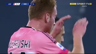GOLO! Juventus, D. Kulusevski aos 77', Juventus 1-1 Verona