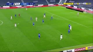 GOLO! Juventus, D. Kulusevski aos 13', Juventus 1-0 Sampdoria