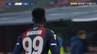 GOLO! Bologna, M. Barrow aos 45', Bologna 1-1 Cagliari