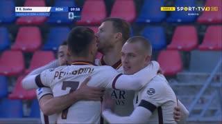 GOLO! Roma, E. Džeko aos 10', Bologna 0-3 Roma
