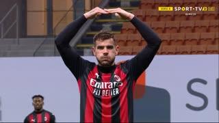 GOLO! Milan, T. Hernández aos 60', Milan 2-0 Benevento