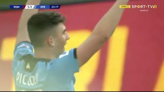 GOLO! Spezia, R. Piccoli aos 24', Roma 1-1 Spezia