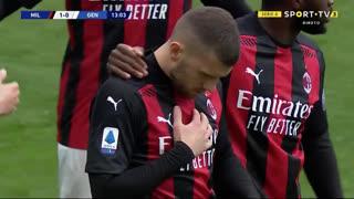 GOLO! Milan, A. Rebić aos 13', Milan 1-0 Genoa