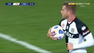 GOLO! Parma, R. Gagliolo aos 66', Parma 1-2 Milan