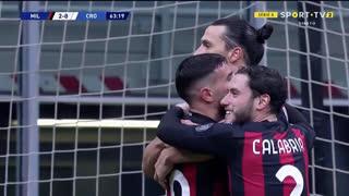 GOLO! Milan, Ibrahimovic aos 64', Milan 2-0 Crotone