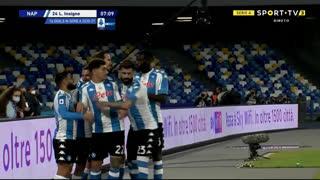 GOLO! Napoli, L. Insigne aos 7', Napoli 1-0 Lazio