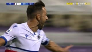 GOLO! Sampdoria, F. Quagliarella aos 42', Fiorentina 0-1 Sampdoria