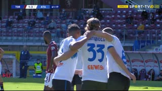 GOLO! Atalanta, H. Hateboer aos 42', Torino 1-3 Atalanta