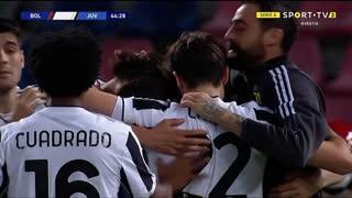 GOLO! Juventus, A. Rabiot aos 45', Bologna 0-3 Juventus