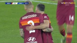 GOLO! Roma, J. Veretout aos 11', Roma 1-0 Cagliari