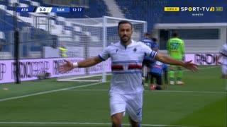 GOLO! Sampdoria, F. Quagliarella aos 13', Atalanta 0-1 Sampdoria