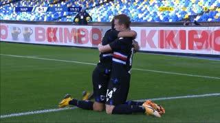 GOLO! Sampdoria, J. Jankto aos 20', Napoli 0-1 Sampdoria