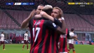 GOLO! Milan, A. Saelemaekers aos 47', Milan 2-1 Roma