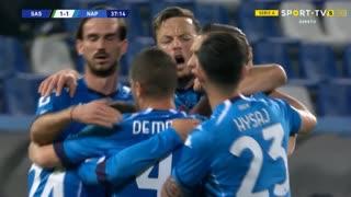 GOLO! Napoli, P. Zieliński aos 38', Sassuolo 1-1 Napoli