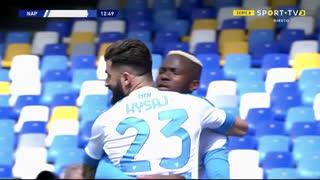 GOLO! Napoli, V. Osimhen aos 13', Napoli 1-0 Cagliari
