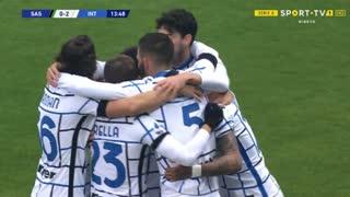 GOLO! Internazionale, V. Chiricheş (p.b.) aos 14', Sassuolo 0-2 Internazionale