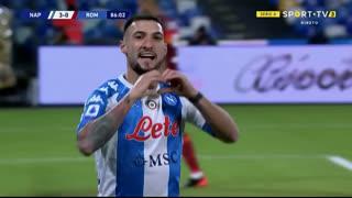 GOLO! Napoli, M. Politano aos 86', Napoli 4-0 Roma