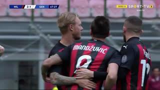 GOLO! Milan, G. Scamacca (p.b.) aos 68', Milan 2-1 Genoa