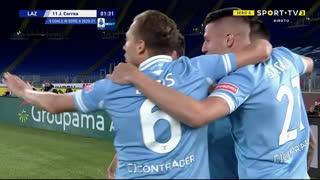 GOLO! Lazio, J. Correa aos 2', Lazio 1-0 Milan