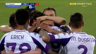 GOLO! Fiorentina, D. Vlahović aos 45'+1', Benevento 0-3 Fiorentina