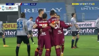 GOLO! Roma, E. Džeko aos 3', Atalanta 0-1 Roma