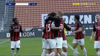 GOLO! Milan, A. Romagnoli aos 17', Milan 1-0 Fiorentina