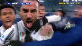 GOLO! Juventus, L. Bonucci aos 89', Juventus 3-1 Torino