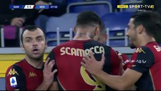 GOLO! Genoa, G. Scamacca aos 28', Sampdoria 1-1 Genoa