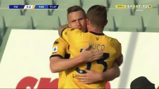 GOLO! Parma, J. Kurtič aos 72', Fiorentina 2-2 Parma