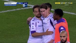 GOLO! Fiorentina, D. Vlahović aos 45'+2', Verona 0-1 Fiorentina