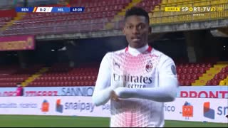 GOLO! Milan, Rafael Leão aos 49', Benevento 0-2 Milan