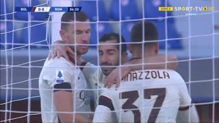 GOLO! Roma, E. Džeko aos 5', Bologna 0-2 Roma