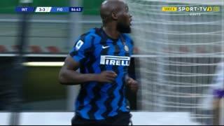 GOLO! Internazionale, R. Lukaku aos 87', Internazionale 3-3 Fiorentina