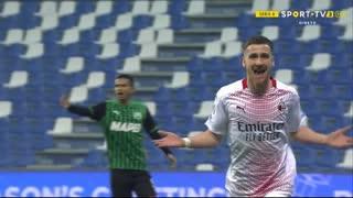 GOLO! Milan, A. Saelemaekers aos 26', Sassuolo 0-2 Milan