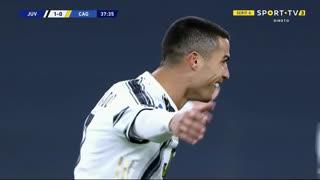 GOLO! Juventus, Cristiano Ronaldo aos 38', Juventus 1-0 Cagliari