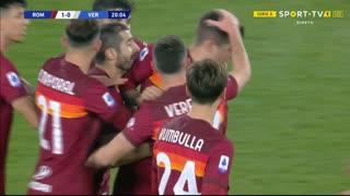 GOLO! Roma, G. Mancini aos 20', Roma 1-0 Verona