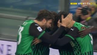 GOLO! Sassuolo, F. Caputo aos 90'+5', Sassuolo 3-3 Napoli
